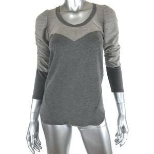 Dolan T-Shirt Small Knit Top Gray Cotton Blend
